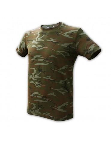 Tričko ALPHA INDUSTRIES elastické, camo