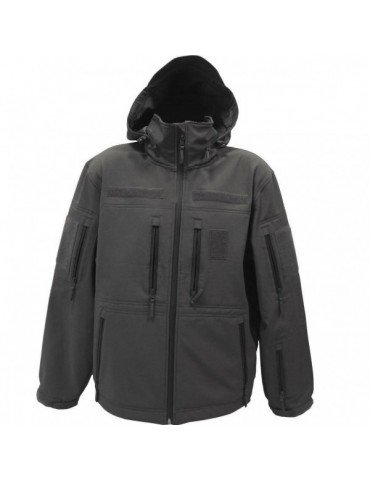 Bunda softshell GURKHA tactical, čierna
