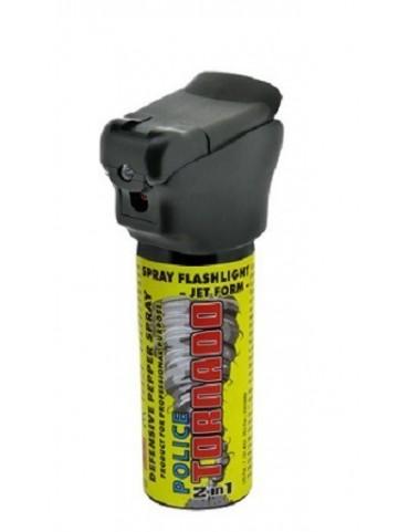 Sprej obranný POLICE TORNADO so svietidlom, 50 ml