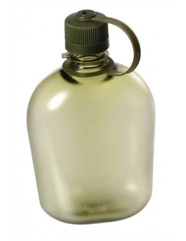 Fľaša plastová priehľadná vz. US army, oliv