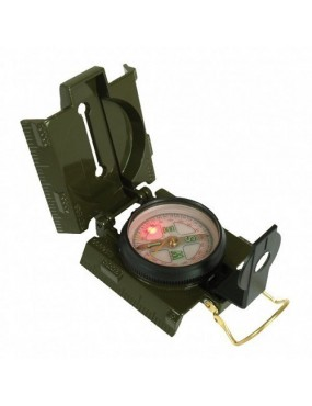 Kompas kovový LED, oliv