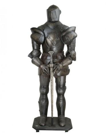 Zbrojnoš s mečom 01 BK tmavá patina