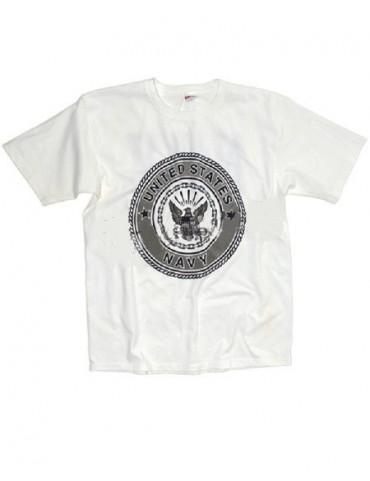 Tričko US NAVY, biele