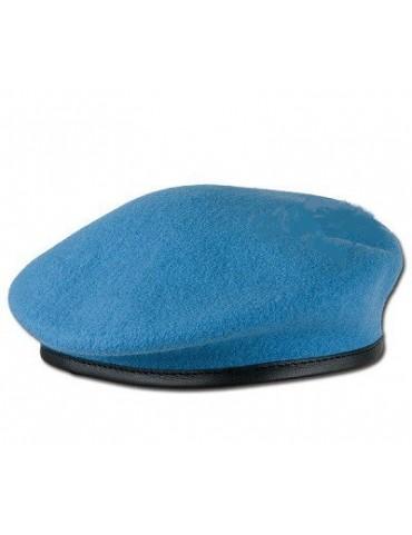 Baret vlnený, modrý