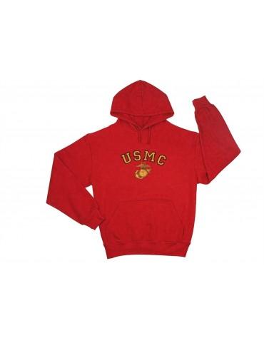 Bunda s kapucou USMC, červená