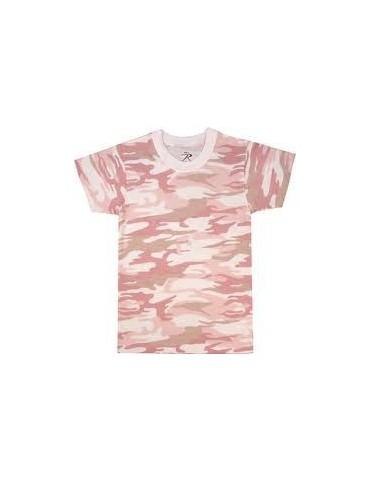 Tričko detské kr. rukáv, pink camo