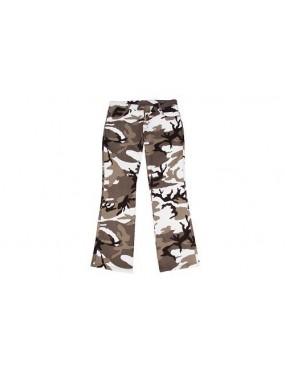 Nohavice dámske stretch, sivá camo