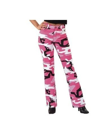 Nohavice detské stretch, pink camo