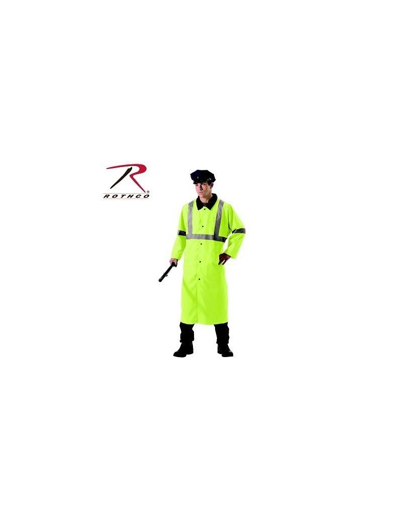 Kabát obojstraný bezpečnostný reflexný - čierny
