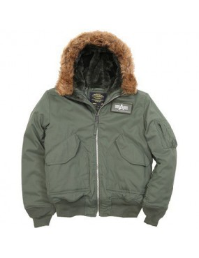 Bunda ALPHA 45/P Hooded X, sage green