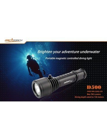 Svietidlo LED ORCATORCH D500, potápanie