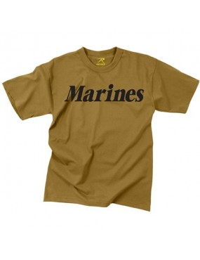 Tričko kr. rukáv s nápisom Marines, coyot