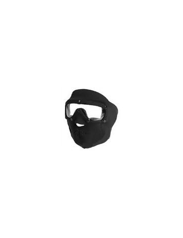 Maska SWAT ochranná neoprénová čierna, sklá číre