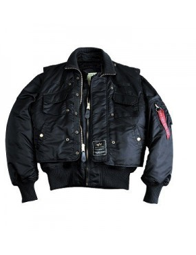 Bunda ALPHA Industries X-FORCE s vestou, black