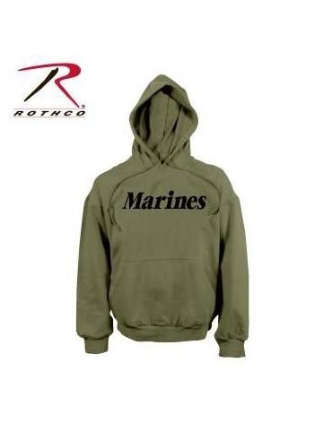 Mikina Marines s kapucou, oliv