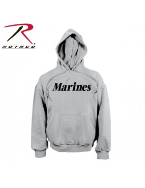 Mikina Marines s kapucou, sivá