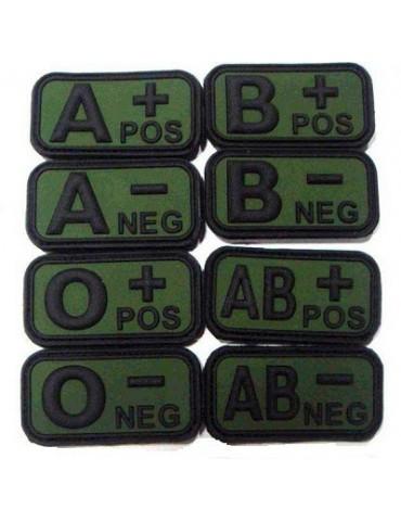 Nášivka krvnej skupiny PVC, oliv/čierna