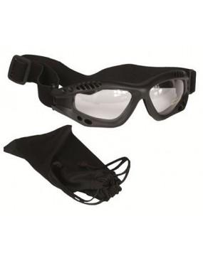 Okuliare komando AIR PRO, číre sklá