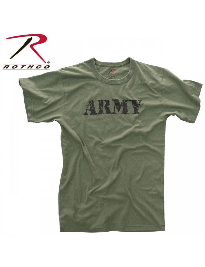 e31b3a1f9e09 Tričko kr. rukáv Vintage s nápisom ARMY