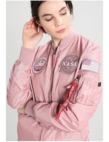 Bunda ALPHA MA-1 TT NASA Reversible dámska, silver pink