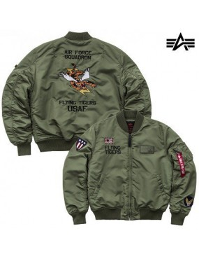 Bunda ALPHA MA-1 VF Flyning Tigers, sage green