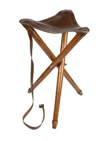Stolička drevená skadacia - trojnožka