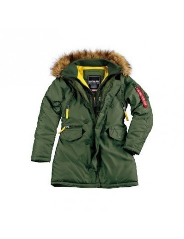 Kabát dámsky ALPHA PPS N3B, dark green