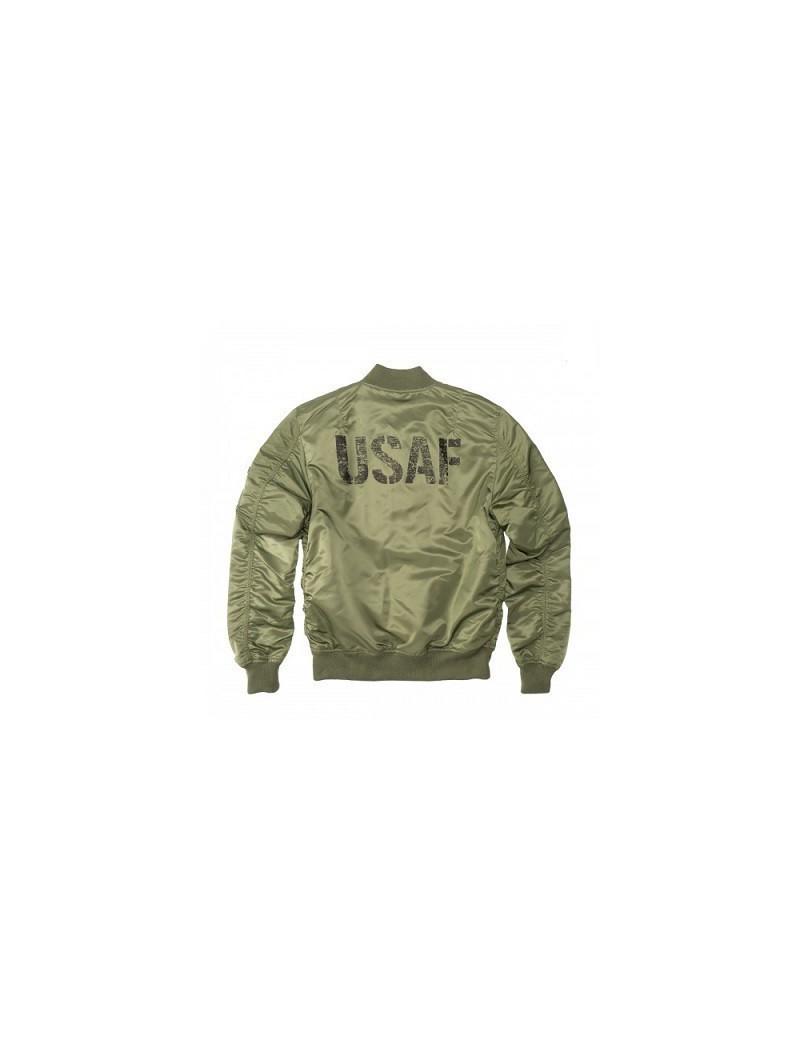 Bunda ALPHA MA-1 VF LW USAF, sage green