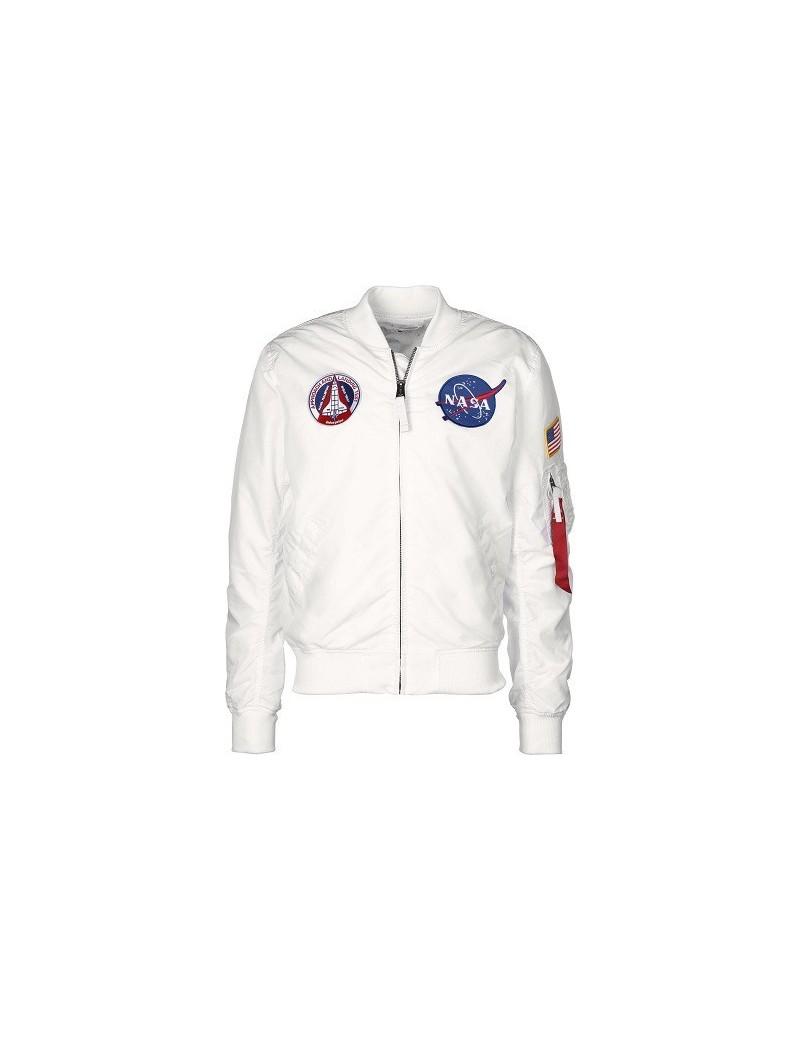 Bunda ALPHA MA-1 TT NASA Reversible, white
