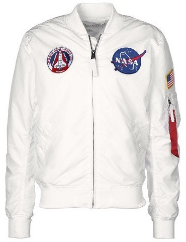 Bunda ALPHA MA-1 TT NASA Reversible, white