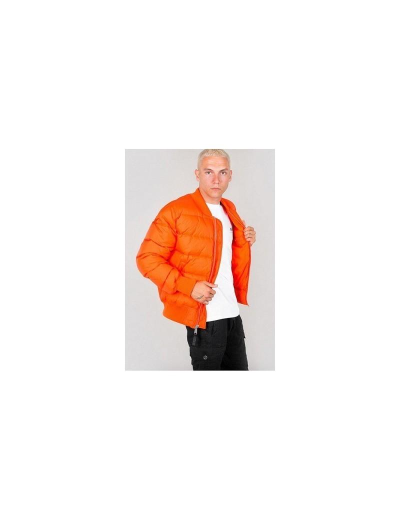 Bunda ALPHA MA-1 Puffer, flame orange