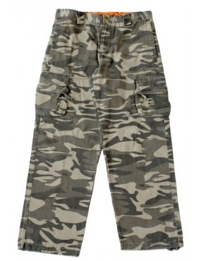 Nohavice MILITARY FASHION, grey camo