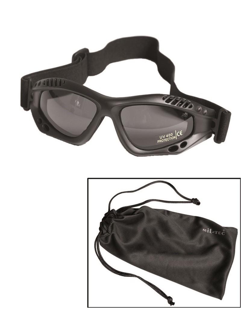 Okuliare komando AIR PRO čierne-sklo dymové