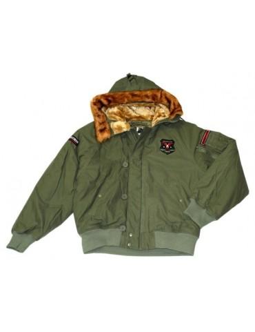 Bunda N2-B USMC s kapucňou, oliv