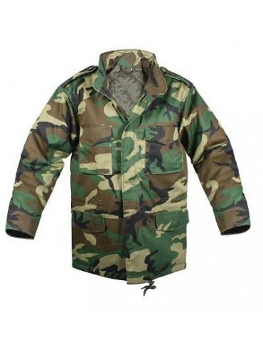 Kabát M-65, woodland