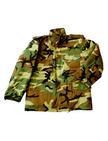 Kabát M-65 NYCO, woodland