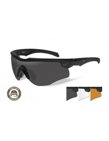 Okuliare Wiley X - ROGUE Comm, black, 3 sklá