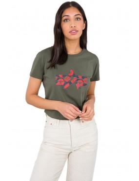 Tričko ALPHA INDUSTRIES dámske Flock Flower Print