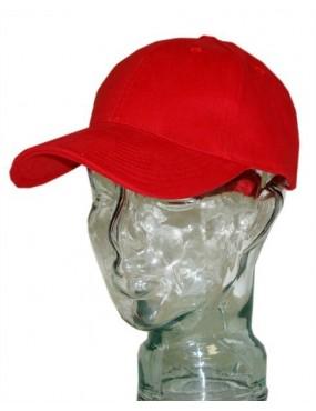 Čiapka BASEBALL 100% bavlna, červená