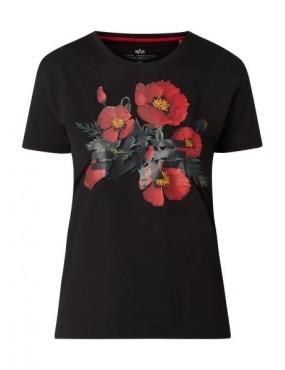 Tričko ALPHA INDUSTRIES dámske Flower Logo