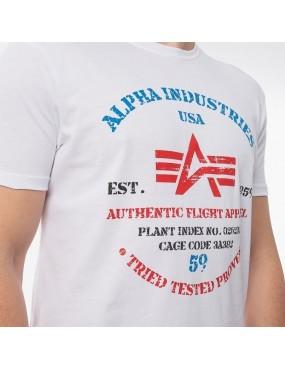 Tričko ALPHA INDUSTRIES Authentic Print T