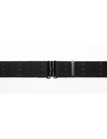 Opasok textilný 3 dierkový, čierny