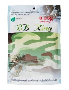 Guličky BB King 0,25 g plastové, 6 mm