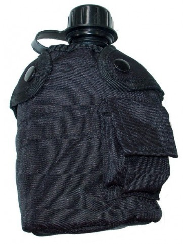 Fľaša poľná na opasok 0,9 L, čierna