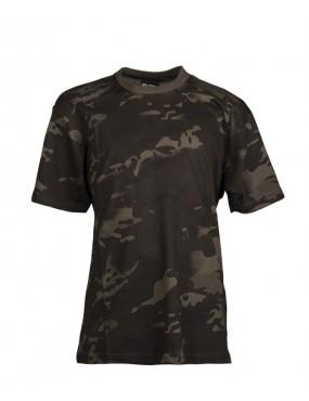 Tričko detské MIL-TEC kr. rukáv, multikam black