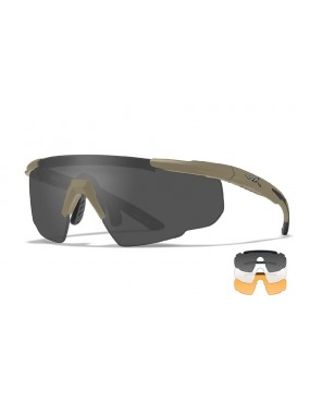Okuliare Wiley X- SABER ADV Smoke/Clear/Rust Tan Frame