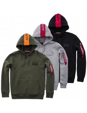 Mikina ALPHA INDUSTRIES Red Stripe Hoody