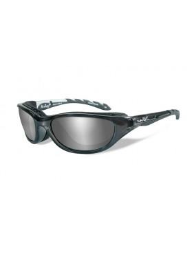 Okuliare Wiley X - AIRRAGE Grey Silver Flash, polarizačné