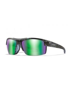 Okuliare Wiley X - COMPASS Emerald Mirror Kryptek, polarizačné