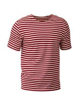 Tričko ruské kr. rukáv, červený prúžok